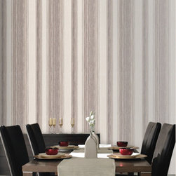 Graham & Brown - Twine Wallpaper - Our beautiful crafted mocha, layers of twine are laced with mica to create an easy living organic stripe wallpaper which will create warm and a homely feel to your home.