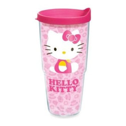 Tervis - Tervis Hello Kitty Cupcake 24-Ounce Wrap Tumbler with Pink Lid - Sip your favorite beverages in style with the super cute Tervis Hello Kitty Cupcake 24-Ounce Wrap Tumbler with lid. Each tumbler features double-wall construction that reduces condensation and keeps hot drinks hot, and cold drinks cold.