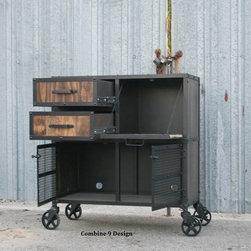 Industrial Bar Carts: Find Rolling Bar Cart and Serving Cart Designs Online