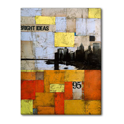 Gallery Direct - M. Drake's 'Bright Ideas' Canvas Gallery Wrap, 18x24 - M. Drake born in Queens, New York in 1980 and studied painting at the Academy of Art in San Francisco. Early in his career, he was influenced by Intuitive Abstract Expressionism, but then his style evolved to reflect Postmodern and Minimalist concepts in his work. Drake's approach allows him to paint more realistically but make the idea abstracted. To achieve his vision, Drake primarily works with paint, graphite, charcoal and ink, sometimes combining untraditional mediums. When observing his work, he would like a viewer to ̢���realize something more there but for the artwork itself to remain cloaked in mystery.̢��� Drake currently spends his time between Marfa, Texas, and Brooklyn.
