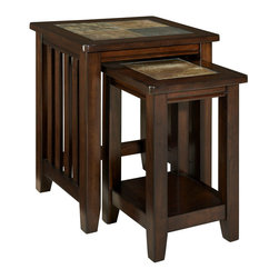 Standard Furniture - Standard Furniture Napa Valley Nesting Tables - Casual California rustic styling and multi-functional features make Napa Valley the answer for today's preference for relaxed living and versatility.