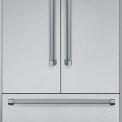Thermador - 36 inch Built-In French Door Bottom-Freezer T36BT820NS - Freedom to customize. Freedom to go modular. Freedom to integrate your refrigeration with the design of your kitchen. That�s what makes Thermador Freedom Refrigeration the leader in true flush, tall door design. Our refrigeration solutions integrate seamlessly into your kitchen design, with custom fronts and concealed venting grille.
