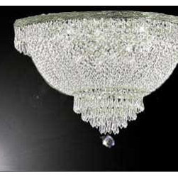 The Gallery - French Empire Crystalemi Flush chandelier Lighting - Assembly required.