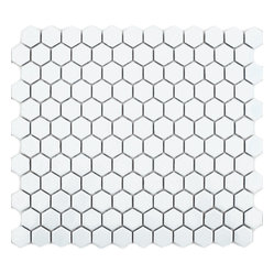 Gloss White Hexagon Tile