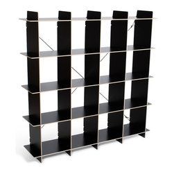 """Quark Enterprises - 16 Cubby Organizer, Black - A new addition to our Cubby Organizer line, the 16 Cubby Organizer is sized right in the Goldilocks Zone: """"Just Right"""". Like our other storage furniture options, the 16 Cubby Organizer is meant to be used with our kids' storage bins. You can use it to store books and clothes or fill the bins with art supplies and other knick knacks. With so much space to put things your kids' rooms will always be neat and tidy."""
