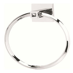 Alno Inc. - Alno Contemporary Ii Crystal Crystal Towel Ring Chrome C8440-Pc - Alno Contemporary Ii Crystal Crystal Towel Ring Chrome C8440-Pc
