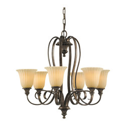 Murray Feiss - Murray Feiss F2280/6BRB Somerset 6 Bulb British Bronze Chandelier - Murray Feiss F2280/6BRB Somerset 6 Bulb British Bronze Chandelier