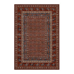 """Couristan - Old World Classics Pazyrk Rug 1660/1300 - 4'6"""" x 6'6"""" - Because these area rugs contain such exquisite detail, other patterns showcased in your room-setting should be represented on a smaller scale. Choose a secondary color found in your area rug and complement it with your wall paint or use pillows and fabrics that are similar. Layering colors and textures makes your interior decor feel cohesive and well thought out."""