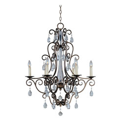 Maxim Lighting - Tuscan Six Light Up Lighting ChandelierHampton Collection - Lighting your life since 1970, Maxim Lighting is committed to offering you outstanding quality and satisfaction.
