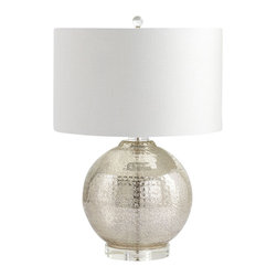 Cyan Design - Hammered Reflections Table Lamp - Hammered reflections table lamp - mercury