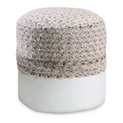 Spencer N. Enterprises - Swirl Fur Cream/Chocolate Footstool Cover - This footstool cover makes updating your home décor quick and easy—just slip it over an insert to switch up your home's style in an instant. Insert sold separately.