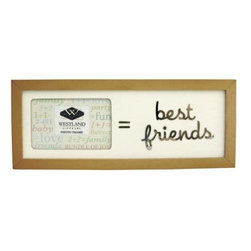 """WL - 2 x 3 Inch """" = Best Friends"""" Message Collectible Brown Photo Frame - This gorgeous 2 x 3 Inch """" = Best Friends"""" Message Collectible Brown Photo Frame has the finest details and highest quality you will find anywhere! 2 x 3 Inch """" = Best Friends"""" Message Collectible Brown Photo Frame is truly remarkable."""