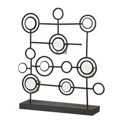 Sterling Industries - Sterling Industries 129-1059 Iron & Mirror Tea Light Stand - Specifications: