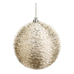 Silk Plants Direct - Silk Plants Direct Bead Ball Ornament (Pack of 12) - Silk Plants Direct specializes in manufacturing, design and supply of the most life-like, premium quality artificial plants, trees, flowers, arrangements, topiaries and containers for home, office and commercial use. Our Bead Ball Ornament includes the following: