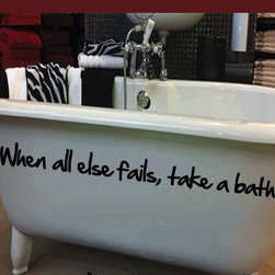 All else fails Vinyl Wall Decal bathroomquotes31, Pink, 18 in. - Vinyl Wall Quotes are an awesome way to bring a room to life!