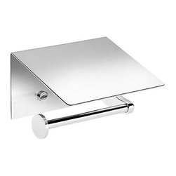 WS Bath Collections - Left Toilet Paper Holder with Cover - Contemporary design. Premium quality - avantgarde. Warranty: One year. Made from solid brass. Polished chrome color. Made in Spain. 5.5 in. W x 5.1 in. D x 3.5 in. H (3 lbs.)Kubic Class from Pom Dor Spain the very well known brand name for premium and highend bathroom furnishings. Unique and fine bath complements, and accessories of various designs and materials, that provide inspirational solutions for every decor.