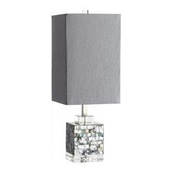 Joshua Marshal - Silver Grey Smoke Johor 1 Light Table Lamp - Silver Grey Smoke Johor 1 Light Table Lamp