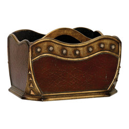 Sterling Industries - Tibetan Stud Magazine Holder - Tibetan Stud Magazine Holder by Sterling Industries