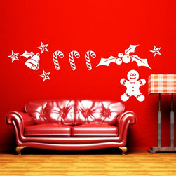ColorfulHall Co., LTD - Kids Wall Decals Holiday Christmas, White - Kids Wall Decals Holiday Christmas