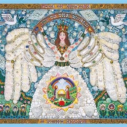 A Christmas Angel Puzzle - 1000 Piece Jigsaw PuzzleA Christmas Angel is a limited edition, 1000 piece puzzle, re-released for Springbok Puzzle's 50th Anniversary. The artwork that composes this puzzle was made by artist Robert Schneeberg. Schneeberg used many different beads, semi-precious stones, colored glass and other mediums to create this masterpiece. The original artwork hangs in Hallmark's corporate archives, and the Springbok Puzzle team was fortunate to find it one day and realize that it would make the perfect puzzle image. Unbeknownst to them, it was already made into a puzzle, almost 30 years earlier!