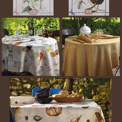 Table Linens - Impeccable printing for this 100% linen tablecloths, napkins and tea towels. Available in various colours, patterns and sizes. Made in Italy.