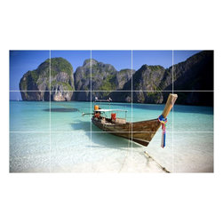 Picture-Tiles, LLC - Boat Ship Picture Wall Back Splash Tile Mural  24 x 40 - * Boat Ship Picture Wall Back Splash Tile Mural 1231