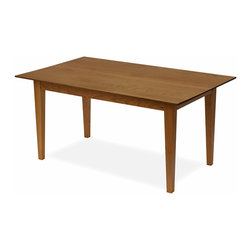 """Classic Designs - Solid Cherry Contemporary Dining Tables, Seats 8 People, 3.5"""" Round Corners - Handcrafted in Vermont from solid Cherry with Hepplewhite Table Legs."""