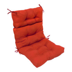 None - 44x22-inch 3-section Outdoor Salssa High Back Chair Cushion - Dress up your outdoor furniture with this cheerful 'Red' high back chair cushion. The deeply colored cushion is weather resistant and features UV protection for lasting durability.
