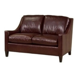 EuroLux Home - Chic New Leather Loveseat Sofa Top Grain - Product Details