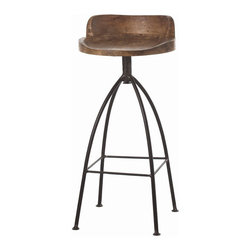 "Arteriors - Arteriors Home - Hinkley Barstool - 2747 - Arteriors Home - Hinkley Barstool - 2747 Features: Hinkley Collection BarstoolRustic marries industrial with this tall natural iron barstoolNatural wax finish for counters/bars Some Assembly Required. Dimensions: W16"" x D16"" x H34"""