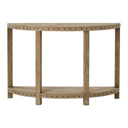 Nailhead Console Table - The finish, shape and nailhead trim make this a great choice for your entryway.