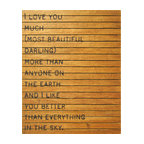 Kathy Kuo Home - 'I Love You Much' Slatted Wood Distressed Wall Art - Move earth and sky to get an individual look in your rooms. This large wall hanging will help. The quote is a bold and loving testament to your darling, printed on distressed and reclaimed wood in a warm, natural finish so no two are exactly alike.