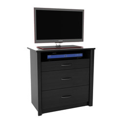 Ameriwood - Ameriwood Media Dresser in Black Ebony Ash - Ameriwood - Chests - 5514026PCOM