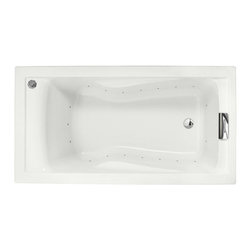 """American Standard - American Standard 2422.V068C.020 White Evolution Evolution 60"""" Acrylic - Product Features:Fully covered under a lifetime warranty; including free lifetime in-home serviceManufactured and assembled in the United States of AmericaAir Bath; soothing heated air bubble actionDrop-in installation; tub is dropped into a pre-cut deck or islandConstructed of ultra-durable fiberglass-reinforced acrylicSurfaced with the industry s best stain-blocking high-gloss finishTub proportions and contour designed by industry leading ergonomics engineersSlip-resistant flooring - textured finishing technique appliedSelf-leveling base structural support cuts installation time and costsChrome air-release caps for Air Bath system - different finishes may be purchased separately and will be offered upon adding to cartTub waste (drain) is not included - this will be presented upon adding to cart, with multiple available finishesLuxury Bathing Experience:Air Bath: A unique form of hydrotherapy, Air Bath systems disperse millions of heated air bubbles through release points surrounding the perimeter of the tub. As the bubbles gently break against your skin, the full-body experience is like being lightly caressed all over. Air baths are warm, calming, and spiritual.Technologies / Benefits:Lifetime Warranty with In-Home Service: This tub is covered under the industryÂ's only Limited Lifetime Warranty with free lifetime in-home service. This speaks volumes to the quality of American Standard tubs.Variable Speed Air Blower with Heater: The Air Bath system on this tub uses a variable speed motor that allows you to select between a calm and gentle setting or brisk and invigorating. The air released is also comfortably pre-heated.Simple Controls: From calm and gentle to an invigorating an"""