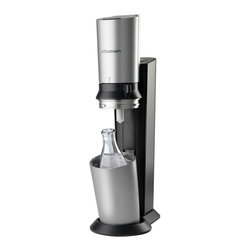 Soda Stream - SodaStream Crystal Home Soda Maker Starter Kit, Black - The SodaStream Crystal Starter Kit equips you in style to make fresh soda or sparkling water in seconds.