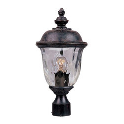 Maxim Lighting - Maxim Carriage House DC 1-LT Outdoor Post Lantern Bronze - 3426WGOB - Carriage House DC is a traditional, early American style collection from Maxim Lighting Interior in Oriental Bronze finish with Water Glass.