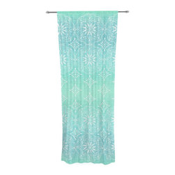 "Kess InHouse - Suzie Tremel ""Medallion Aqua Ombre"" Blue Teal Decorative Sheer Curtain - Let the light in with these sheer artistic curtains. Showcase your style with thousands of pieces of art to choose from. Spruce up your living room, bedroom, dining room, or even use as a room divider. These polyester sheer curtains are 30"" x 84"" and sold individually for mixing & matching of styles. Brighten your indoor decor with these transparent accent curtains."