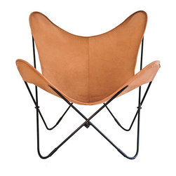 "Original - ""Vaqueta Moka"" Butterfly chair Big BKF leather chair models - Vaqueta Moka"