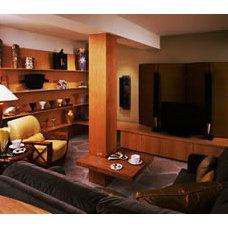 Contemporary Family Room by Leslie Harris / Interior Design