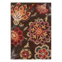 Surya - Monterey Coffee Bean Floral Pattern Area Rug - Monterey collection is made of 100% polypropylene (Olefin). Monterey Coffee Bean Rug with Flowers Patternby Surya boasts stripes and botanical designs, making this collection a must have!