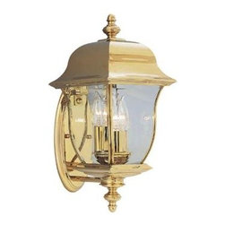 Cordelia Lighting - Cordelia Lighting Outdoor Lanterns. Oak Harbor Polished Brass Lantern 3-Light Ou - Shop for Lighting & Fans at The Home Depot. Oak Harbor outdoor lanterns are a modern take on a classic design with a unique, elegant style that complements the exterior decor of any home. The polished brass finish is treated to prevent pitting, tarnishing, corrosion, and discoloration. The clear glass works with the sharp lines and oval back plate to provide a clean look from the fixture and warm glow from the light. The sturdy, weather resistant brass and stainless steel construction and waterproof seal protects the lantern from harsh outdoor elements to ensure the long life of the fixture. These outdoor lanterns install easily and deliver welcoming, safe and reliable exterior lighting.