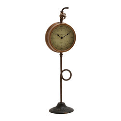 Ingeniously Cool Metal Table Clock - Description: