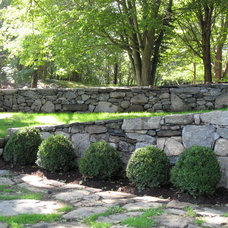 Traditional Retainer Walls by usa fence