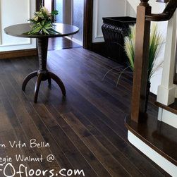Alston Vita Bella Collection - Vita Bella Carnegie Walnut is a special UV modified oil finished smooth surface hardwood. Available at HFOfloors.com.