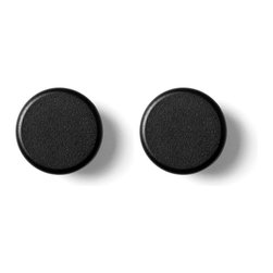 MENU - Knob, Black, 2-pack - The Norm Knobs are an informal and flexible piece of furniture made for storing towels and accessories in the bathroom, or coats in the hallway. The Norm Knobs are designed in a simple and recognizable style. They are rounded and soft in expression, while still being visually strong, iconic and masculine.