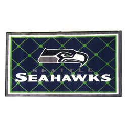 Fanmats - NFL Seattle Seahawks Football Large Accent Area Rug - Features:
