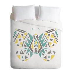 DENY Designs - Loni Harris Tribal Butterfly Duvet Cover - Turn your basic, boring down comforter into the super stylish focal point of your bedroom. Our Luxe Duvet is made from a heavy-weight luxurious woven polyester with a 50% cotton/50% polyester cream bottom. It also includes a hidden zipper with interior corner ties to secure your comforter. it's comfy, fade-resistant, and custom printed for each and every customer.