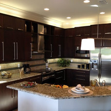 modern kitchen cabinets by Ervolina Associates Inc