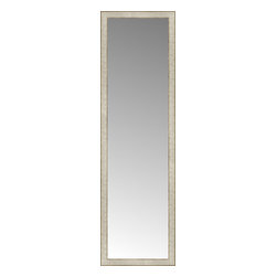 """Posters 2 Prints, LLC - 18"""" x 60"""" Libretto Antique Silver Custom Framed Mirror - 18"""" x 60"""" Custom Framed Mirror made by Posters 2 Prints. Standard glass with unrivaled selection of crafted mirror frames.  Protected with category II safety backing to keep glass fragments together should the mirror be accidentally broken.  Safe arrival guaranteed.  Made in the United States of America"""