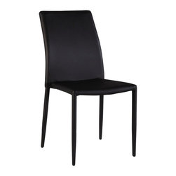 Chintaly Imports - Fiona Upholstered Back Side Chair in Black - Set of 4 - Fiona Upholstered Back Side Chair in Black - Set of 4